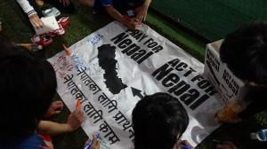 ネパール寄せ書き