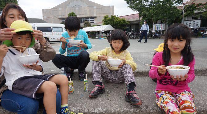 熊本市内にて炊き出し2日目